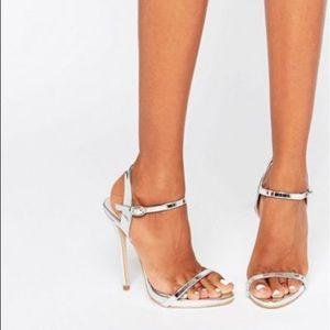 [asos] Public desire silver heels